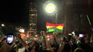Oregon Marijuana Prohibition Lifted Burnside Bridge Block Celebration FREE LEGAL WEED!