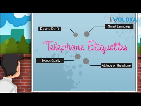 E-learning Interactive Animation | Telephone Etiquette | voloxa.com