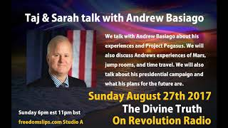 Taj & Sarah Adams talk with Andrew Basiago on The Divine Truth on Revolution Radio