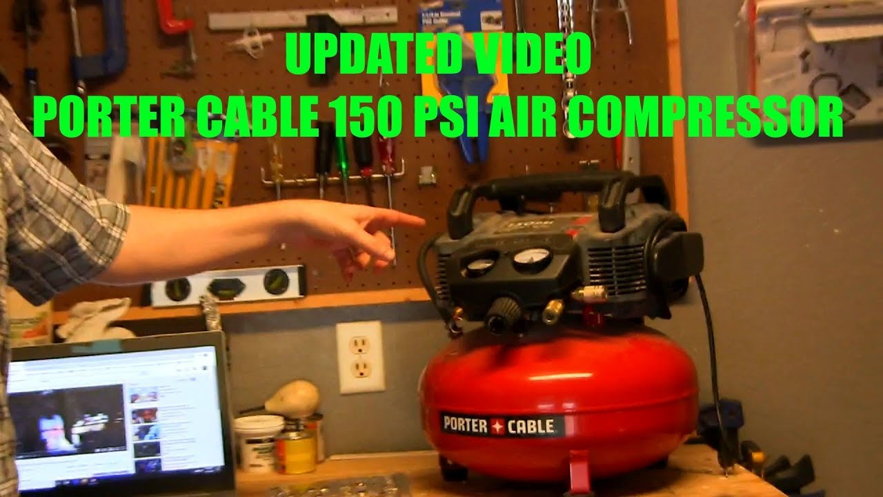 Porter Cable 150 Psi Air Compressor Update Video Youtube