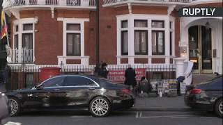 LIVE: Outside Ecuadorian Embassy after Wikileaks allege Julian Assange was spied on