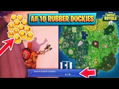 WHERE TO FIND ALL 10 RUBBER DUCKIES IN FORTNITE BATTLE ROYALE WEEK 3 CHALLENGES