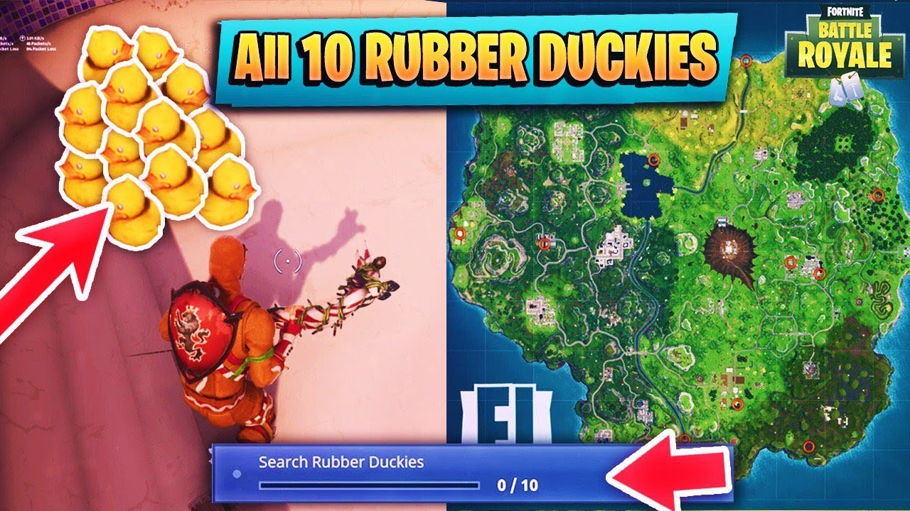 Where To Find All 10 Rubber Duckies In Fortnite Battle