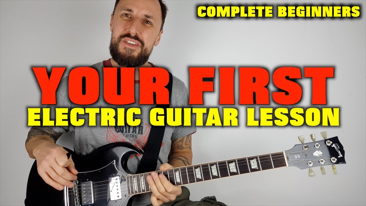 first electric guitar lesson complete beginners youtube. Black Bedroom Furniture Sets. Home Design Ideas
