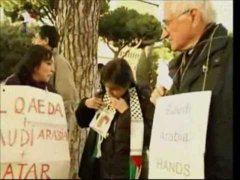 Syrians, Arabs & Italians reject foreign intervention against Syria - Roma, Italy, 19/2/2012