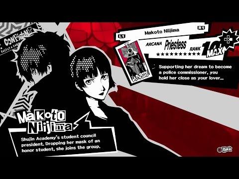 Persona 5 Makoto Priestess Confidant All Ranks