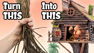 DONKEY KONG&#39S TREEHOUSE made from STICKS!