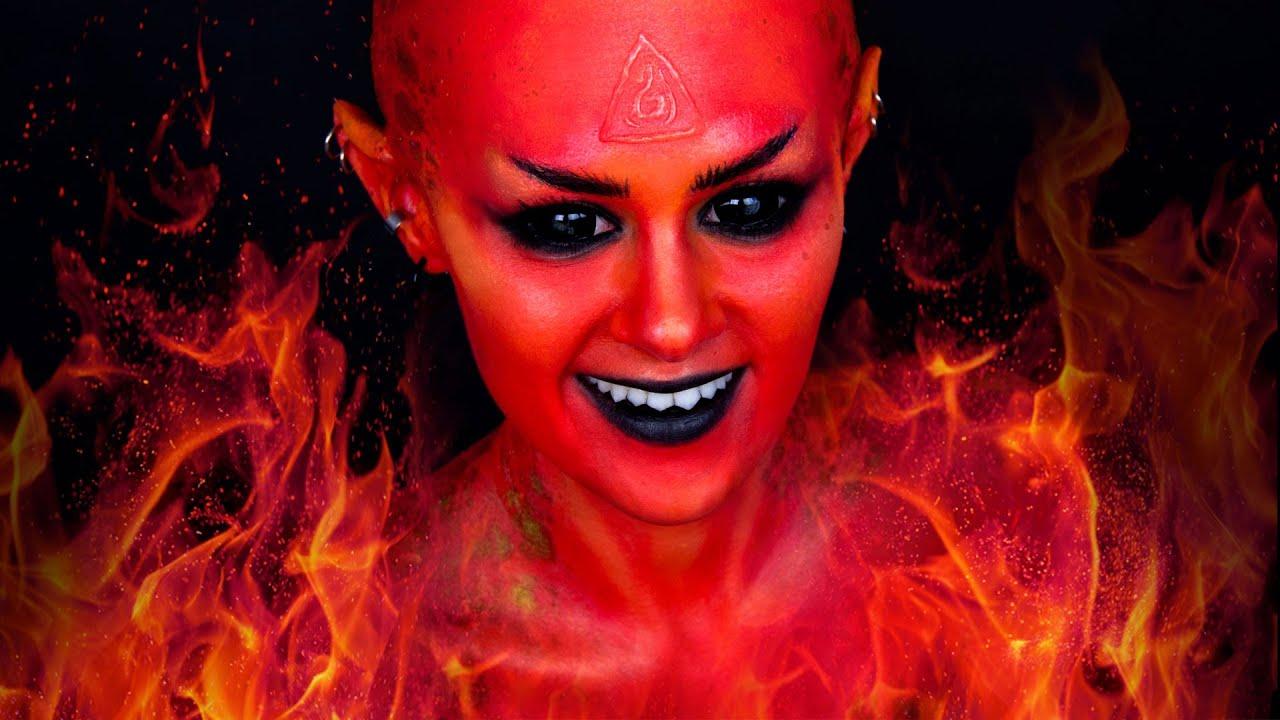 Fire Fairy (Devil/Demon) | Makeup Tutorial - YouTube