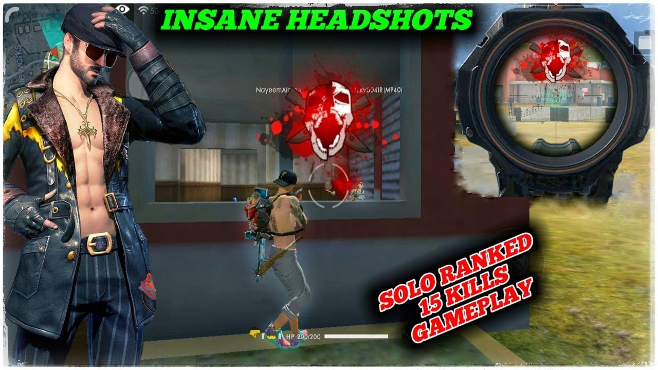 Ranked Solo 15 Kills Gameplay Insane Headshots Garena Free Fire Gamingwithnayeem