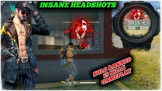 RANKED SOLO 15 KILLS GAMEPLAY INSANE HEADSHOTS - GARENA FREE FIRE // GAMINGWITHNAYEEM !!!