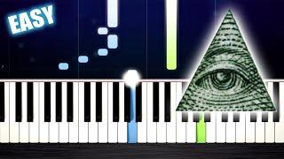 Baixar ILLUMINATI SONG - EASY Piano Tutorial by PlutaX