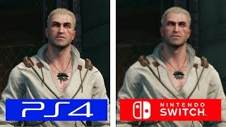 The Witcher III | PS4 vs Switch | Graphics & FPS Comparison