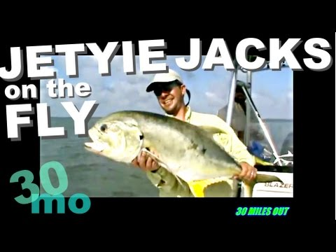 EPIC DAY - GIANT JACK CREVALLES - Fly Fishing G. Loomis Rods - Port O'Connor Texas