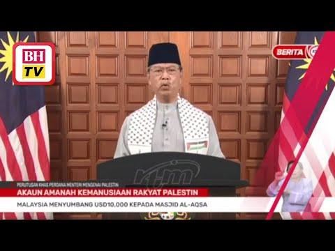 Malaysia terus bagi sumbangan kepada Palestin