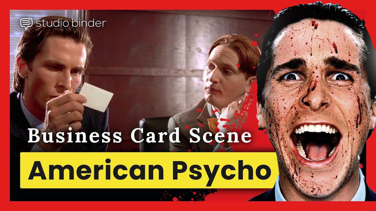 American Psycho Business Card Scene — What it Means [Directing Breakdown]