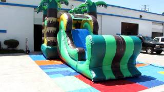 Inflatable_bounce_house_tropiucal_4 In 1_ Combo_for_sale