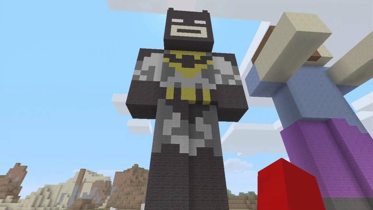 Minecraft: Huge Batman Statue! + Map Download(Xbox) - YouTube