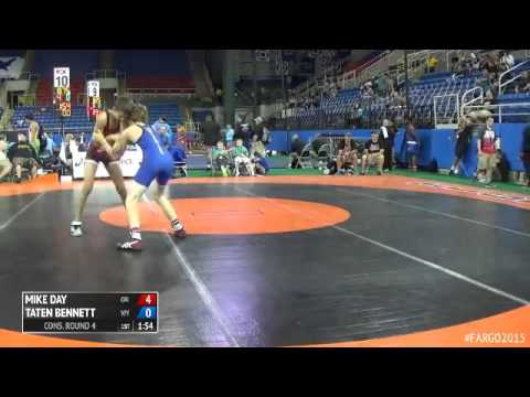 113 Cons. Round 4 - Taten Bennett (Wyoming) vs. Mike Day (Oregon)