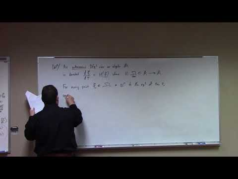 A-Calculus: connection to study of vector fields, 2-19-18, part 1