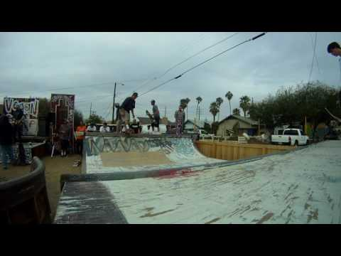 Conspire desert party with skateboarding and punkrock Phoenix Casual