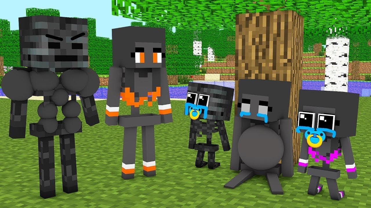 Monster School : BAD WITHER SKELETON MOTHER SAD STORY CHALLENGE - Minecraft Animation