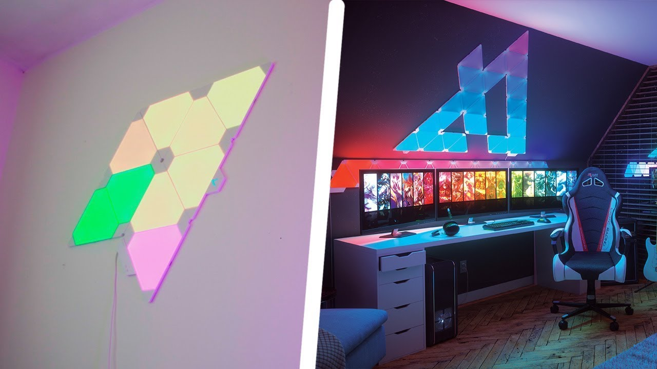 The Coolest Rgb Leds On Earth Nanoleaf Aurora Youtube