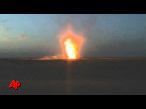 Raw Video: Fiery Blast at Egyptian Gas Terminal