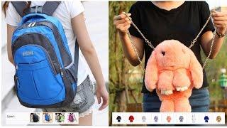 видео Сумка-рюкзак 3D Меховой Кролик на цепочке (натуральный мех) черный 9801 - купить в Москве за 699 руб