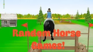 Playing Random Horse Games
