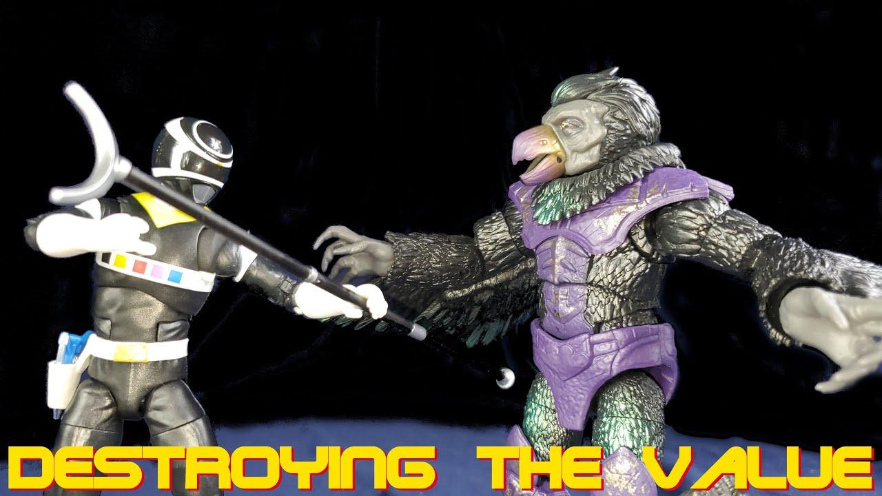 Hasbro Power Rangers Lightning Collection Tenga Warrior & Space Black Ranger - Destroying The Value
