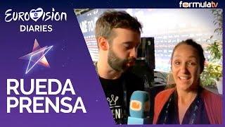 Eurovisión 2019: Rueda de prensa Miki (España) tras el segundo ensayo + Mamen y Mikel Hennett