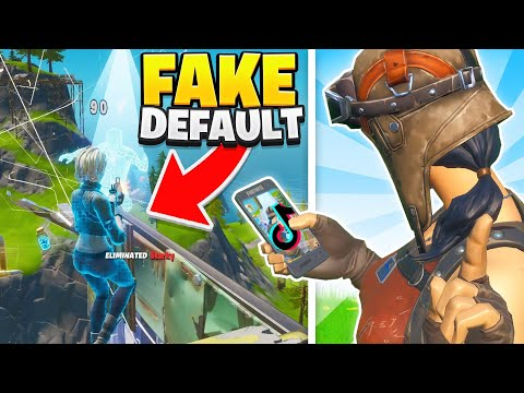 I Tried Out For MY TIKTOK CLAN As A FAKE DEFAULT SKIN In Fortnite...