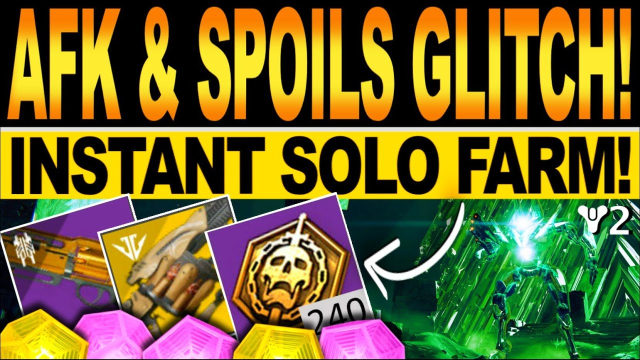 Destiny 2 | NEW AFK & SPOILS GLITCH! Instant SOLO FARM, VAULT OF GLASS Cheese! Season Of The Splicer