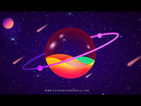 Planets | Colorful planets design in Photoshop free tutorial