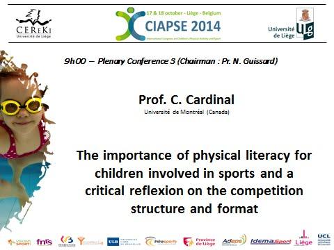 Keynote - Charles Cardinal (Université de Montréal, ACE) CIAPSE2014