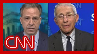 Tapper asks Fauci: D๐ you think lives could have been saved?