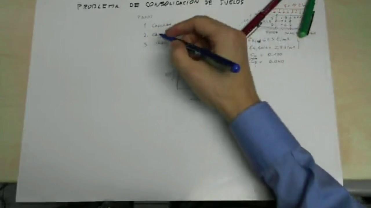 Problema de consolidaci n de suelos geotecnia youtube for Consolidacion de suelos