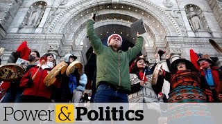 Pipeline protests shut down rail line, disrupt B.C. legislature | Power & Politics