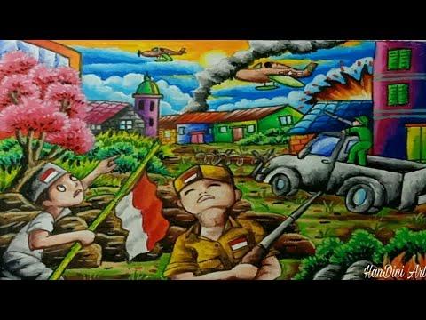 Gambar Ilustrasi Tema Kemerdekaan Indonesia Cara Menggambar Tema Hari Kemerdekaan Ri Independence Day Youtube