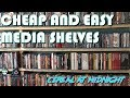 DIY Cheap And Easy Media Shelves