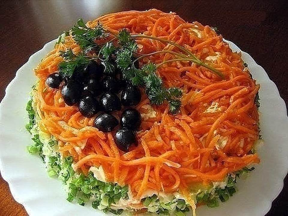 салат бонапарт с корейской морковью рецепт