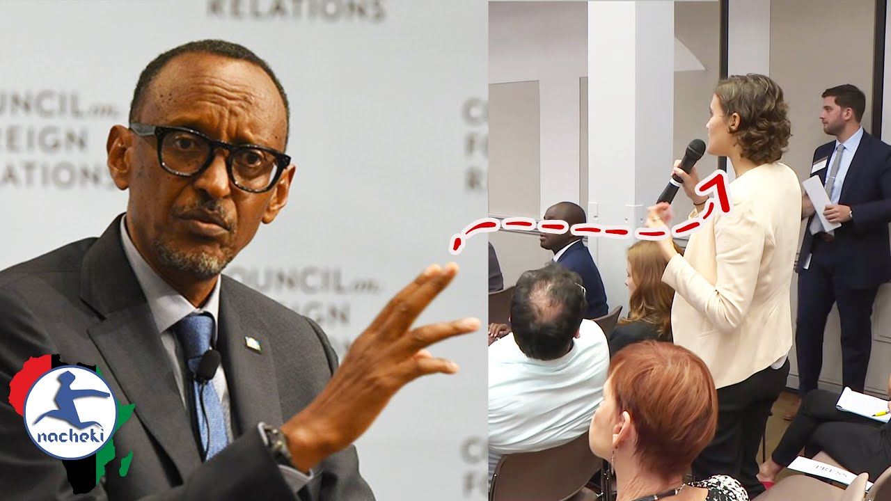 Watch Rwanda President Kagame Destroy White Woman Who Questions Him on Human Rights Abuses Rumors