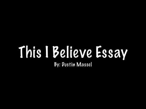 Personal essays this i believe