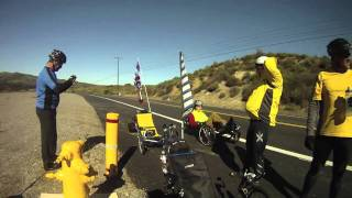 Santiago Canyon - Uphill with recumbent trikes