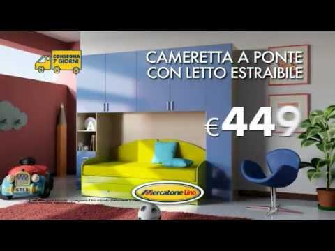 Letto Matrimoniale A Scomparsa Mercatone Uno.Mercatone Uno Cameretta A Ponte Con Letto Estraibile Youtube