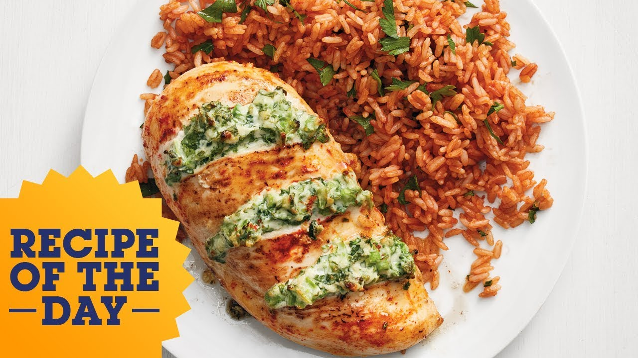 Recipe of the day cheesy broccoli stuffed chicken with tomato rice recipe of the day cheesy broccoli stuffed chicken with tomato rice food network forumfinder Gallery