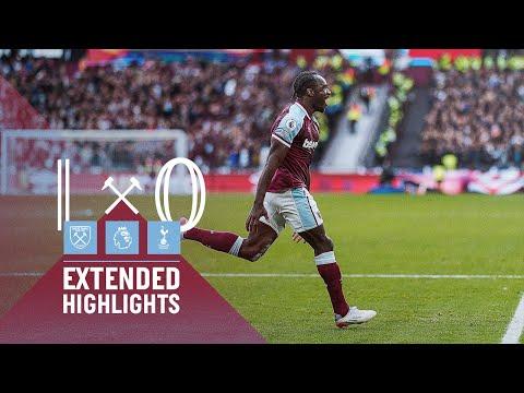 EXTENDED HIGHLIGHTS   WEST HAM UNITED 1-0 SPURS