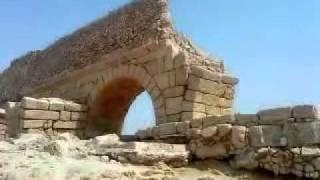 Caesarea - Remains of the ancient Roman aqueduct