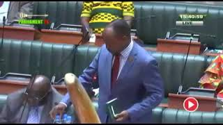Today in parliament with Cornelius mweetwa