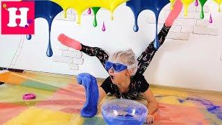 Гимнастический СЛАЙМ Челлендж // Gymnastics SLIME CHALLENGE //  Экстримальный Челлендж